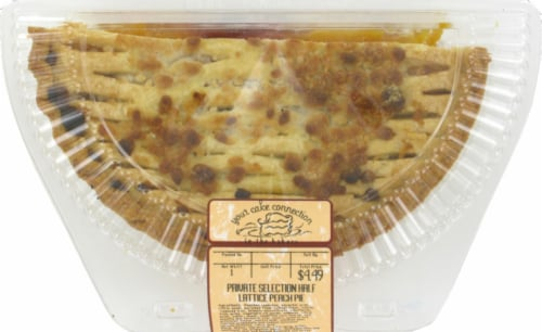 Private Selection™ Peach Lattice Top Half Pie Perspective: front