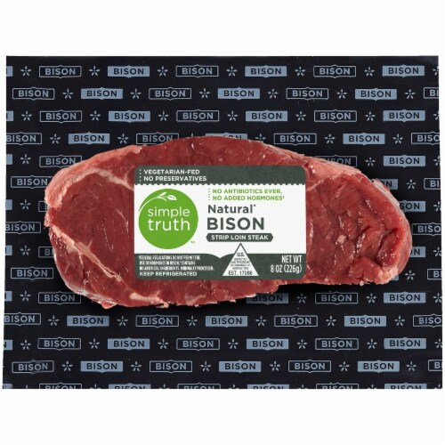 Simple Truth™ Natural Bison Strip Loin Steak Perspective: front