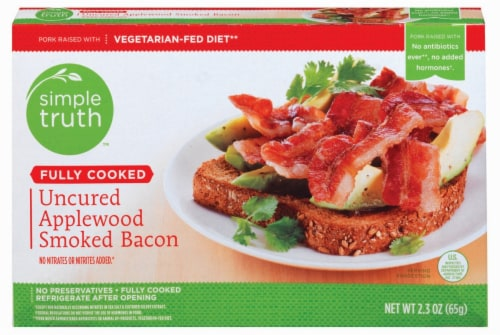 Simple Truth™ Fully Cooked Uncured Applewood Smoked Bacon Perspective: front