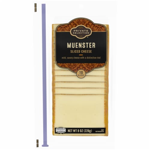 Private Selection Muenster Cheese Slices Perspective: front