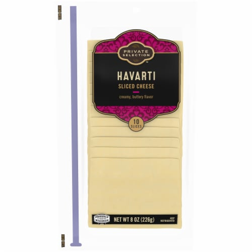 Private Selection™ Havarti Cheese Slices 10 Count Perspective: front