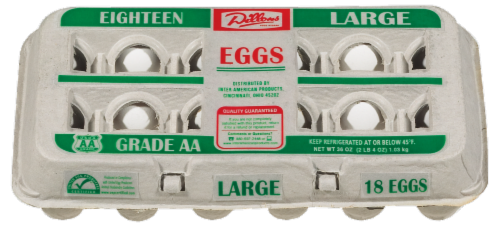 Dillons Grade AA Large Eggs Perspective: front