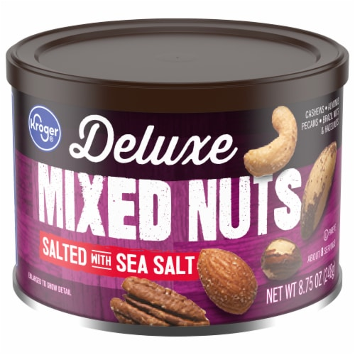 Kroger® Deluxe Salted with Sea Salt Mixed Nuts Perspective: front