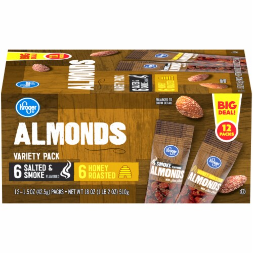 Kroger® Almonds Variety Pack Perspective: front