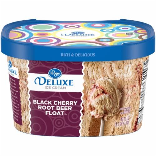 Kroger® Deluxe Black Cherry Root Beer Float Ice Cream Perspective: front