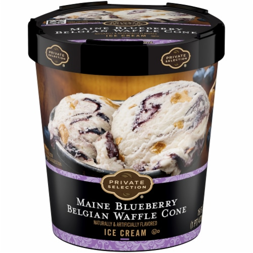 Private Selection™  Maine Blueberry Belgian Waffle Cone Ice Cream Perspective: front