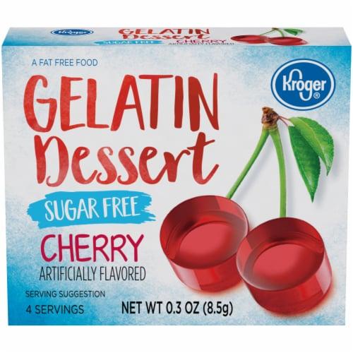 Kroger® Sugar Free Cherry Flavored Gelatin Dessert Perspective: front