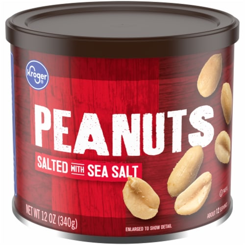 Kroger® Salted with Sea Salt Peanuts Perspective: front