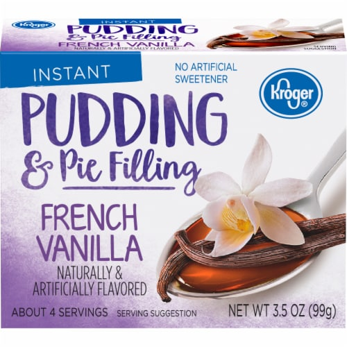 Kroger® French Vanilla Instant Pudding & Pie Filling Perspective: front
