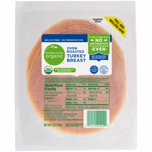 Simple Truth Organic® Oven Roasted Turkey Breast Perspective: front