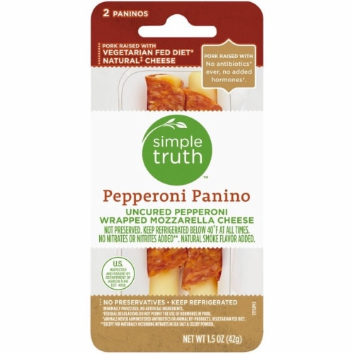 Simple Truth™ Uncured Pepperoni & Mozzarella Panino Perspective: front