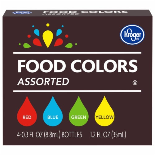 Kroger® Assorted Food Colors Perspective: front