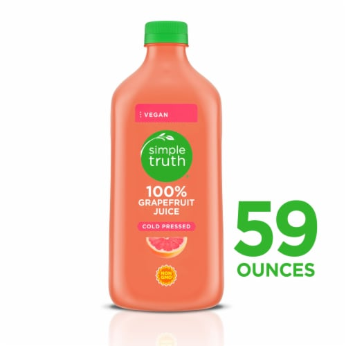 Simple Truth® Cold Pressed 100% Grapefruit Juice Perspective: front
