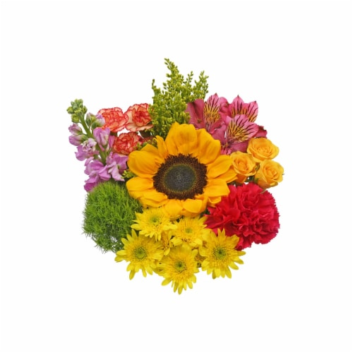 Bloom Haus™ Minuet Yellow/Purple/Red Theme A Bouquet Perspective: front