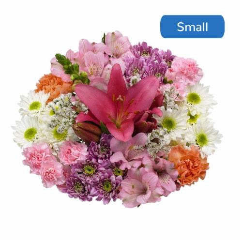 Bloom Haus™ Harmony White/Orange/Yellow Theme B Bouquet Perspective: front