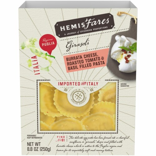 HemisFares™ Burrata Cheese Roasted Tomato & Basil Filled Pasta Perspective: front