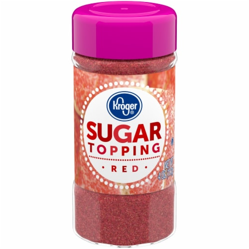 Kroger® Red Sugar Topping Perspective: front