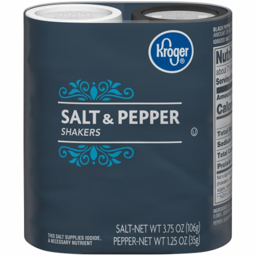 Kroger® Salt & Pepper Shakers Perspective: front