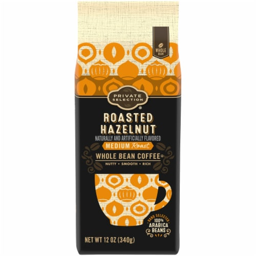 Private Selection® Roasted Hazelnut Medium Roast Whole Bean Coffee Perspective: front
