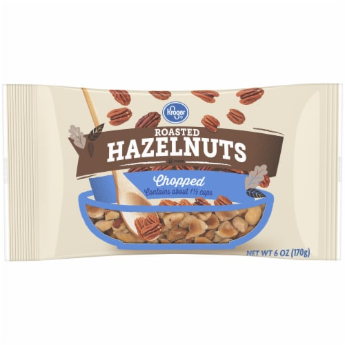 Kroger® Chopped Roasted Hazelnuts Perspective: front
