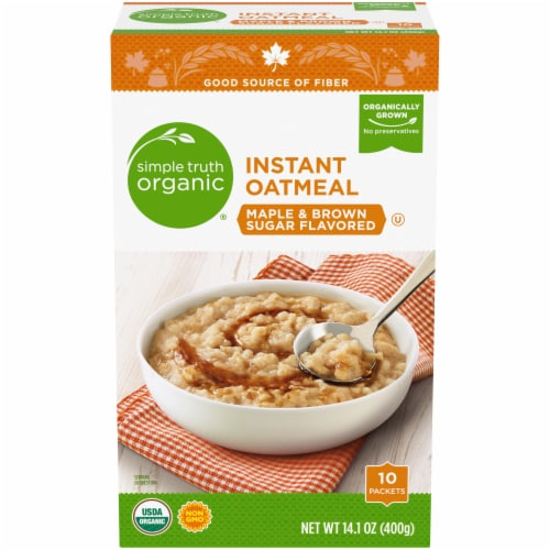 Simple Truth Organic™ Maple & Brown Sugar Instant Oatmeal Perspective: front