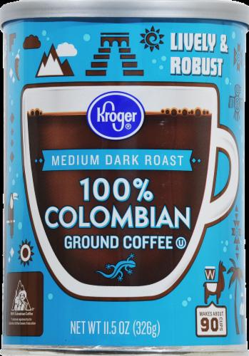 Kroger® 100% Colombian Medium Dark Roast Ground Coffee Perspective: front