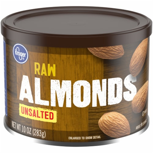 Kroger® Unsalted Raw Almonds Perspective: front
