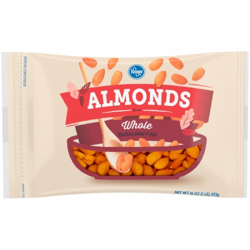 Kroger® Whole Almonds Perspective: front