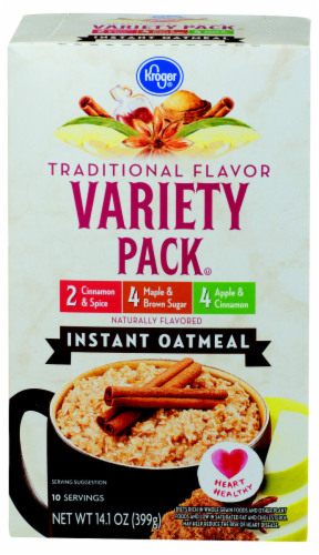 Kroger® Traditional Flavor Instant Oatmeal Variety Pack Perspective: front