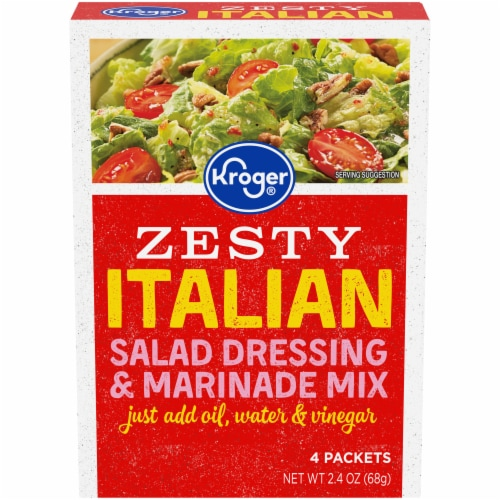Kroger® Zesty Italian Salad Dressing & Marinade Mix Perspective: front