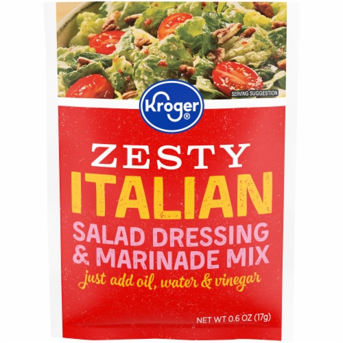 Kroger® Zesty Italian Salad Dressing & Marinade Mix Perspective: front
