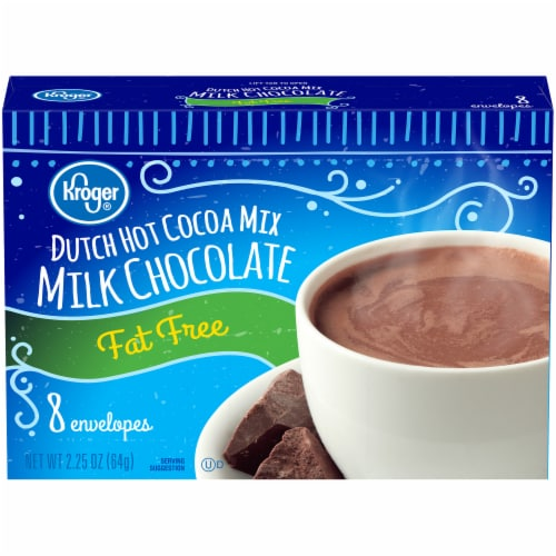 Kroger® Fat Free Milk Chocolate Dutch Hot Cocoa Mix Perspective: front