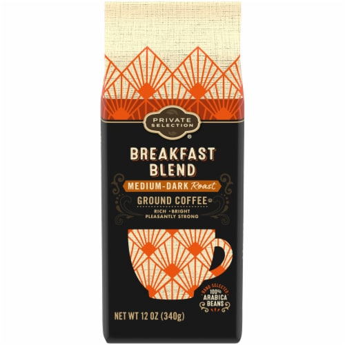 Private Selection® Breakfast Blend Medium-Dark Roast Ground Coffee Perspective: front