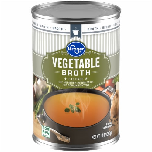 Kroger® Fat Free Vegetable Broth Perspective: front