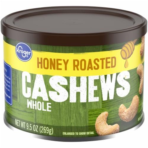 Kroger Honey Roasted Cashews Perspective: front