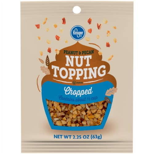 Kroger®  Peanut & Pecan Chopped Nut Topping Perspective: front