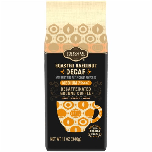 Private Selection® Roasted Hazelnut Decaffeinated Ground Coffee Perspective: front