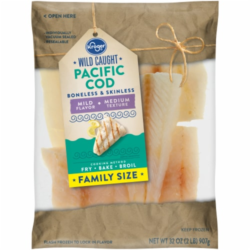 Kroger® Wild Caught Boneless & Skinless Pacific Cod Perspective: front