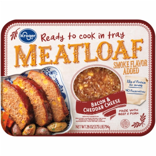 Kroger® Ready To Cook Bacon & Cheddar Cheese Meatloaf Perspective: front