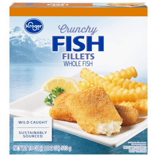 Kroger® Crunchy Fish Fillets Perspective: front