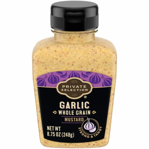 Private Selection® Whole Grain Garlic Mustard Perspective: front