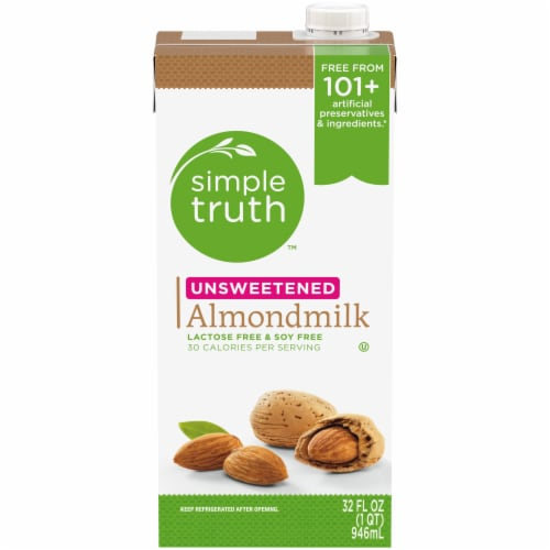 Simple Truth™ Unsweetened Almond Milk Perspective: front