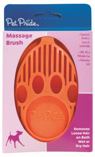 Pet Pride® Massage Brush Perspective: front