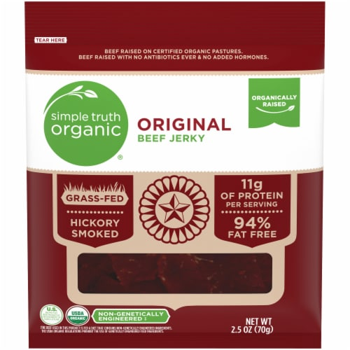 Simple Truth Organic™ Original Beef Jerky Perspective: front