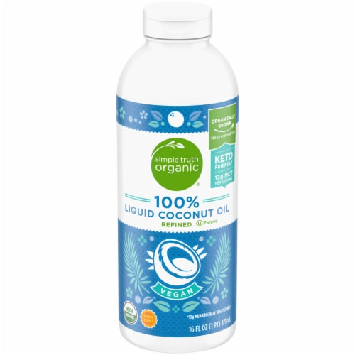 Simple Truth Organic® 100% Refined Liquid Coconut Oil Perspective: front