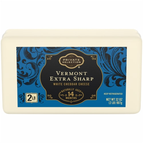 Private Selection® Vermont Extra Sharp White Cheddar Cheese Bar Perspective: front