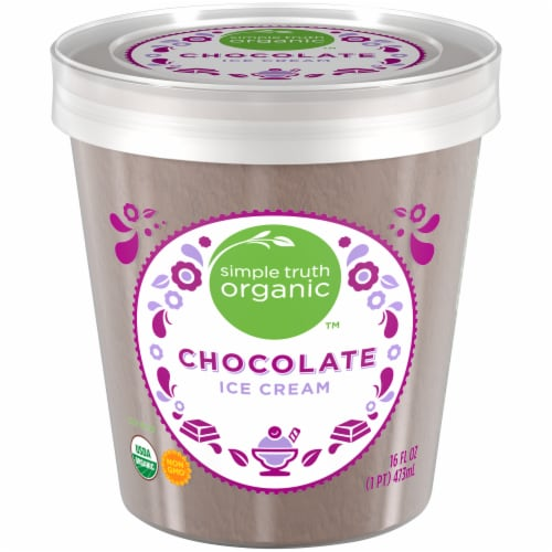 Simple Truth Organic™ Chocolate Ice Cream Perspective: front