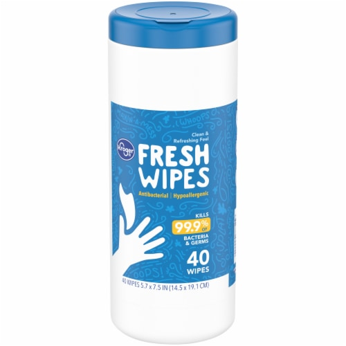 Kroger® Anti Bacterial Moist Wipes Perspective: front