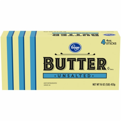 Kroger® Unsalted Butter Perspective: front