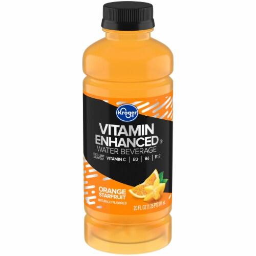 Kroger® Orange Starfruit Vitamin Enhanced Water Perspective: front